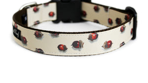 Back side of the Acorns Fall Dog Collar showing the pattern repeating along the collar