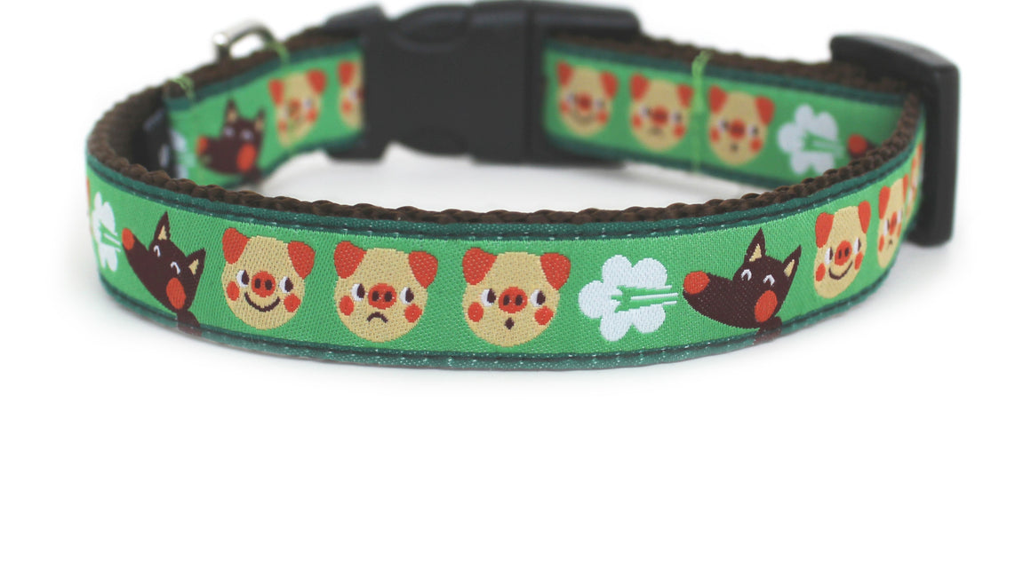 The Three Little Pigs Dog Collar