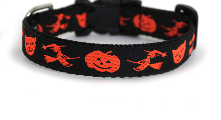 Vintage Halloween Dog Collar