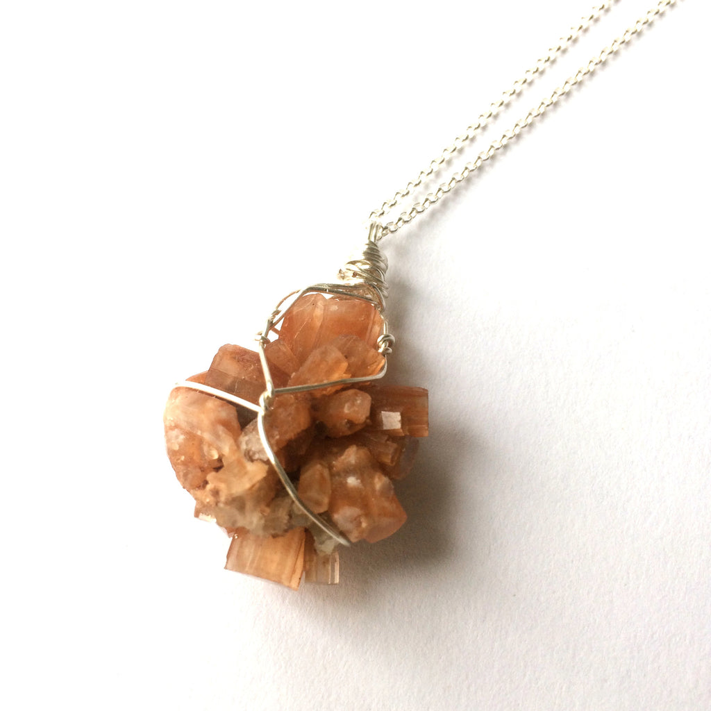 Aragonite Sterling Silver Necklace