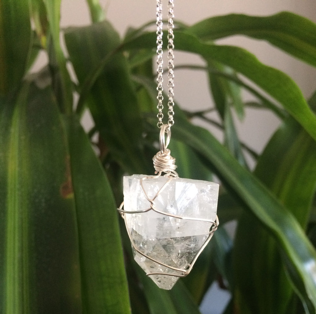 Apophyllite Sterling Silver Necklace