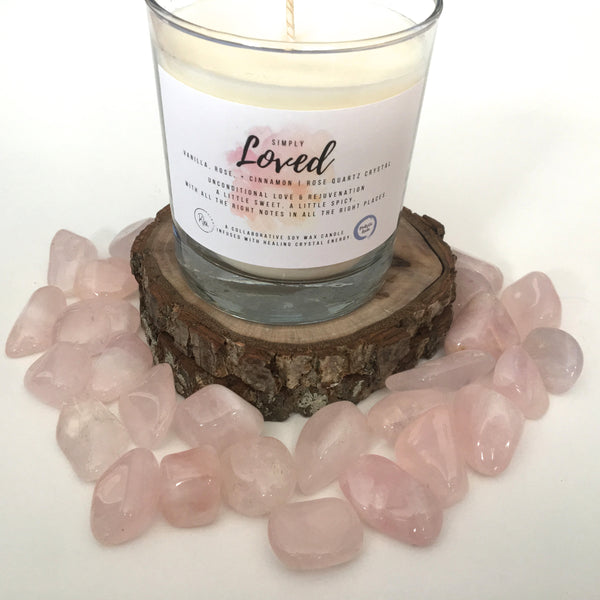Simply Loved Crystal Candle