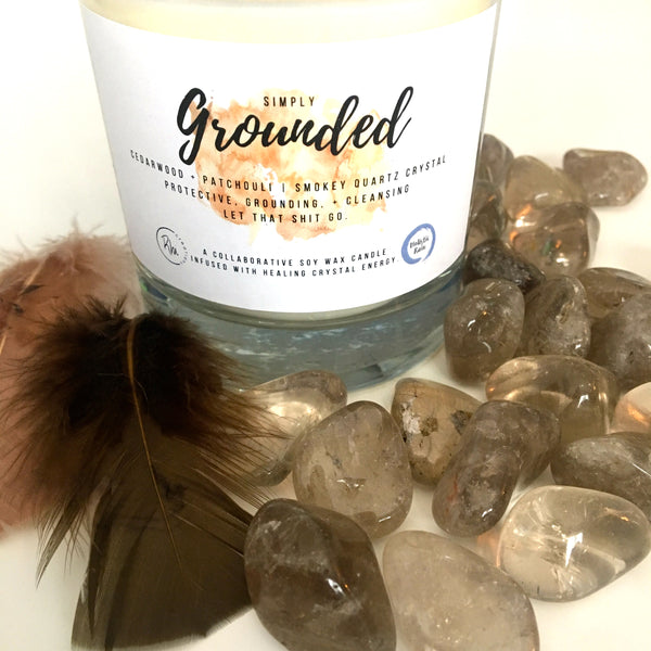 Simply Grounded Crystal Candle