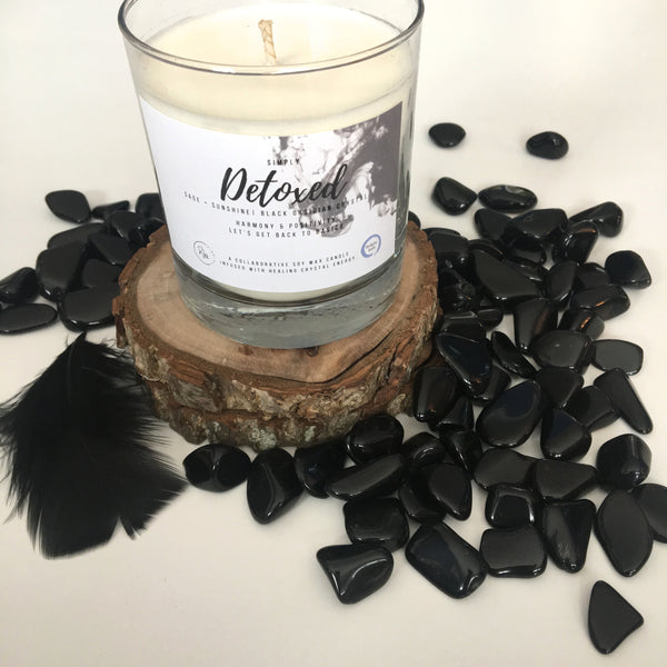 Simply Detoxed Crystal Candle