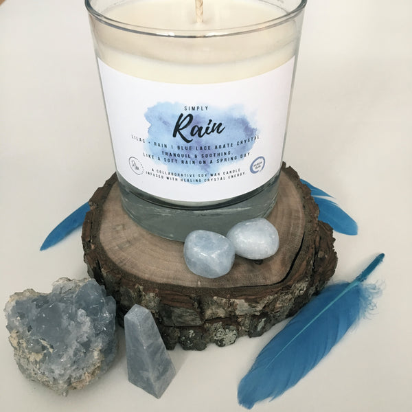 Simply Rain Crystal Candle