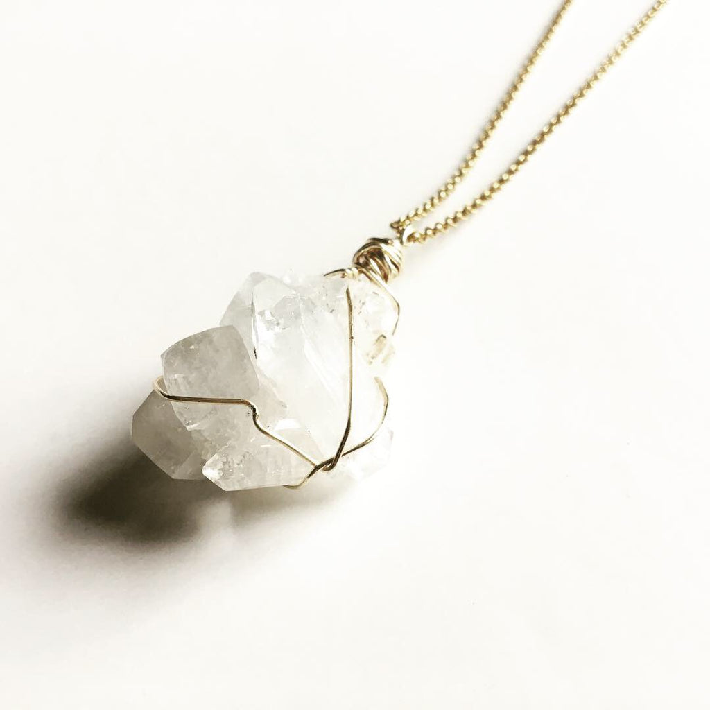 Apophyllite Gold Necklace