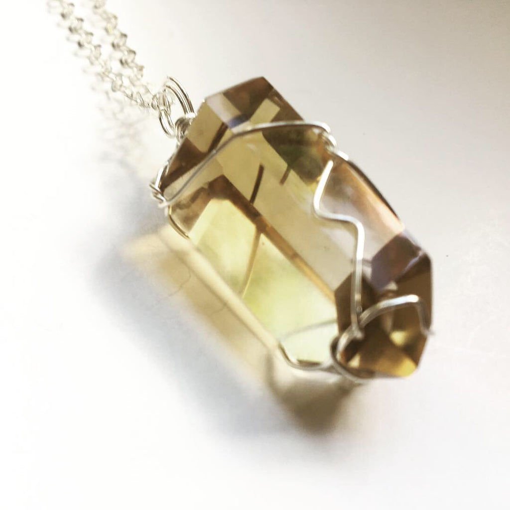 Citrine Point Sterling Necklace