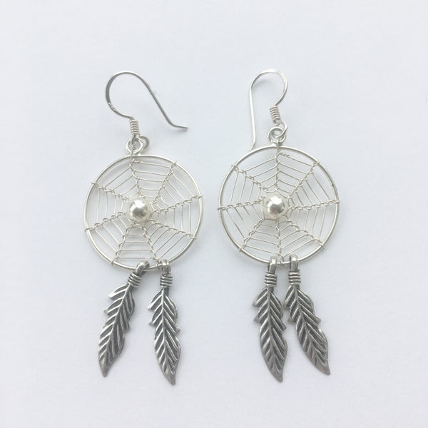 Sterling Dreamcatcher Earrings
