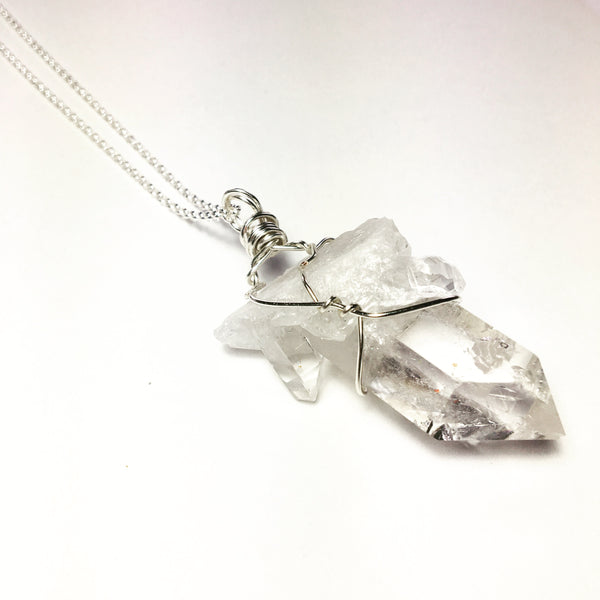 Quartz Sterling Silver Necklace