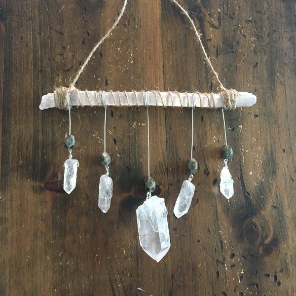 Selenite Crystal Mobile