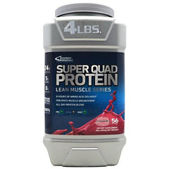 Inner Armour Blue Super Quad Protein - Strawberry - 4 lb - 183859102085