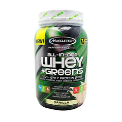 All-In-One Whey + Greens - Vanilla - 2 lb - 631656708950
