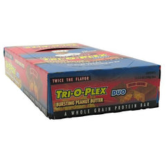 Chef Jays Tri-O-Plex Duo High Protein Food Bar - Bursting Peanut Butter - 12 Bars - 678991456788