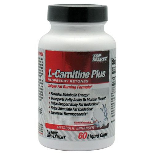 Top Secret Nutrition L-Carnitine +Raspberry Ketones