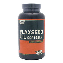 Optimum Nutrition Flaxseed Oil - 200 Softgels - 748927027204