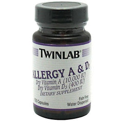 TwinLab Allergy A & D - 100 Capsules - 027434005012