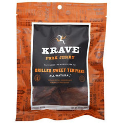 Krave Pure Foods Pork Jerky - Grilled Sweet Teriyaki - 3.25 oz - 855002003012