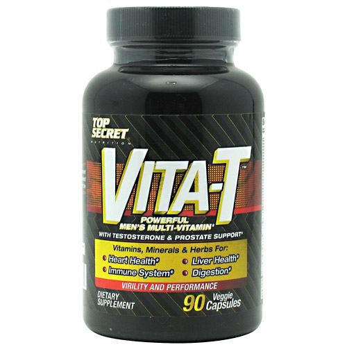 Top Secret Nutrition Vita-T Mens Multi Vitamin - 90 Capsules - 855659004479