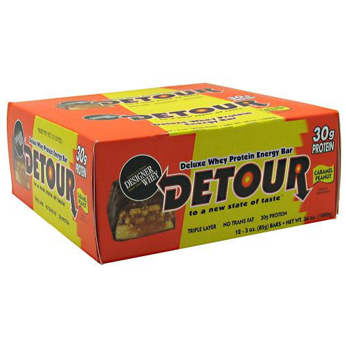 Forward Foods Detour Deluxe Whey Protein Energy Bar - Caramel Peanut - 12 Bars - 733913003225