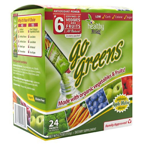 Healthy To Go! Go Greens - Apple Melon - 24 Packets - 850197001072