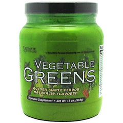 Ultimate Nutrition Vegetable Greens - Golden Maple Flavor - 18 oz - 099071003201