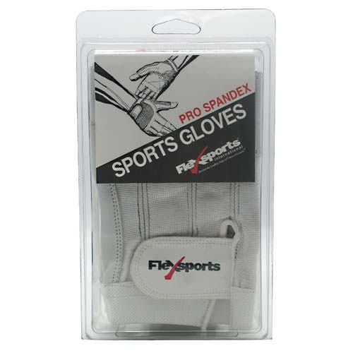 Flexsports International Pro Spandex Sports Gloves White - Medium -   - 718774345141