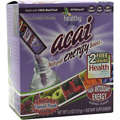 Healthy To Go! Acai Natural Energy Boost - Tropical Punch - 24 Packets - 850197001102