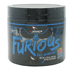AI Sports Nutrition Furious - Booming Blue Raspberry - 30 Servings - 804879474487