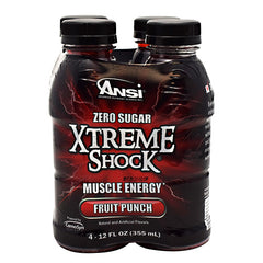 ANSI Xtreme Shock - Fruit Punch - 4 Bottles - 689570407398