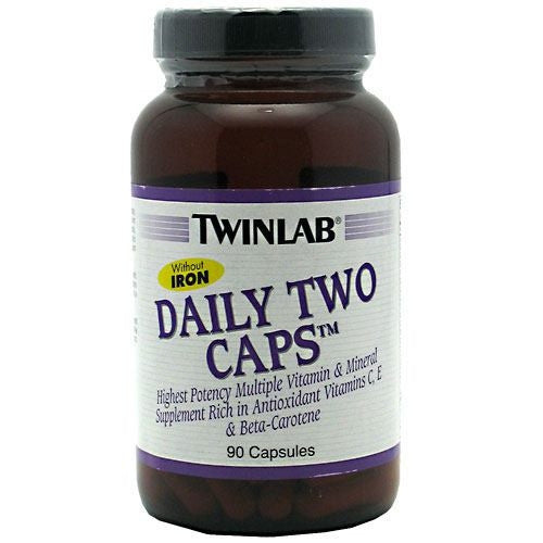 TwinLab Daily Two Caps Without Iron - 90 Capsules - 027434003582