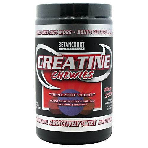 Betancourt Nutrition Creatine Chewies - Triple-Shot Variety - 160 Tablets - 857487002122