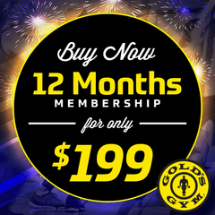 Gold's Gym $199.99 Promo