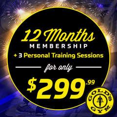 Gold's Gym $299.99 Promo