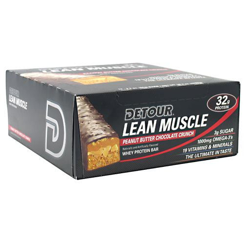 Forward Foods Detour Lean Muscle Whey Protein Bar - Peanut Butter Chocolate Crunch - 12 Bars - 733913009128