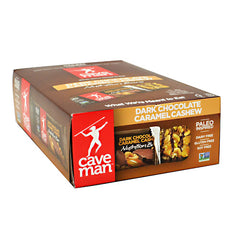 Caveman Foods Caveman Nutrition Bar - Dark Chocolate Caramel Cashew - 15 Bars - 858133006167