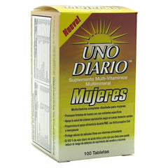 Absolute Nutrition Uno Diario Mujeres - 100 Tablets - 708235089073
