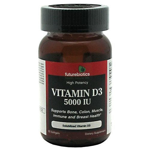 Futurebiotics Vitamin D3 5000 IU - 90 Tablets - 049479006311