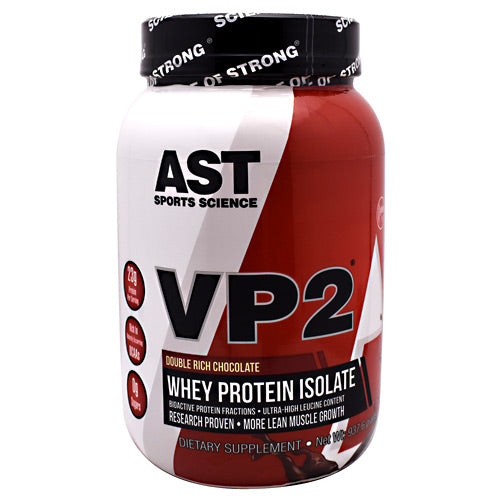 AST Sports Science VP2 Whey Protein Isolate - Double Rich Chocolate - 2.07 lb - 705077002833