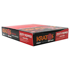 Kratos Foods Kratos Protein Beef Bar - Zesty Pepper - 12 Bars - 824906020111