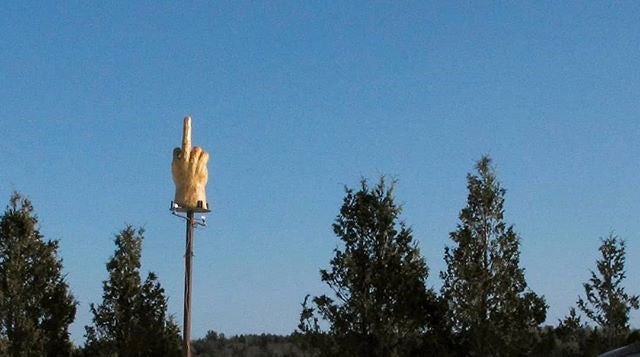 The Story Behind Vermont's Middle Finger Monument