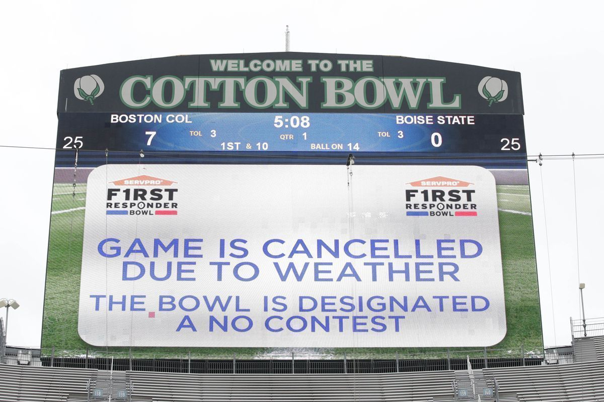 BC's bowl game got cancelled