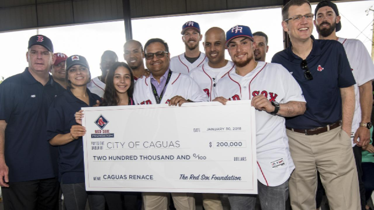 Red Sox give back to the Puerto Rican community