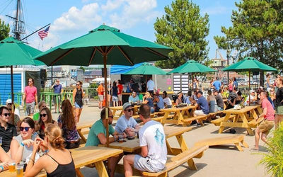 Castle Island Brewing's New Beer Garden Offers Stunning Harbor Views