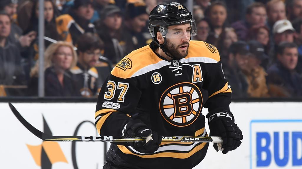 Patrice Bergeron up for an award--for the 8th year in a row