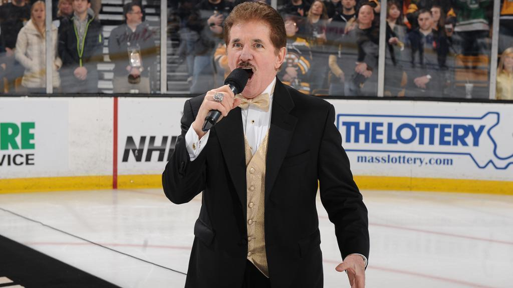 Bruins searching for new national anthem singer