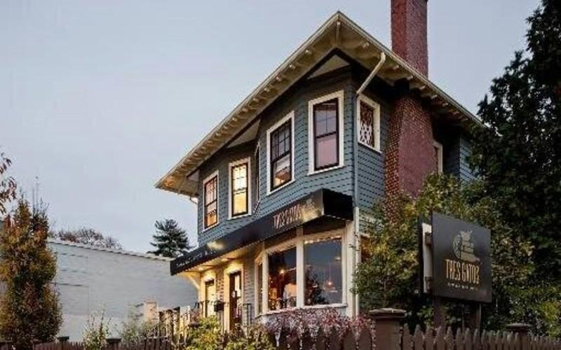 This Converted Boston Home Is A Restaurant, Bookstore & Record Shop
