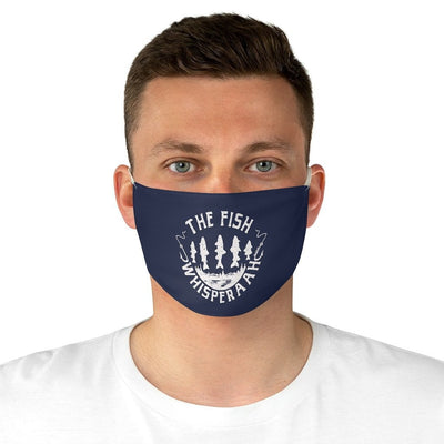 The Fish Whisperaah - Navy Fabric Face Mask - Chowdaheadz