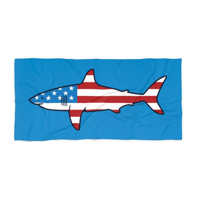 Stars & Stripes Shark Beach Towel - Chowdaheadz