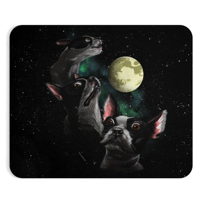 Three Terriers One Moon Mousepad - Chowdaheadz