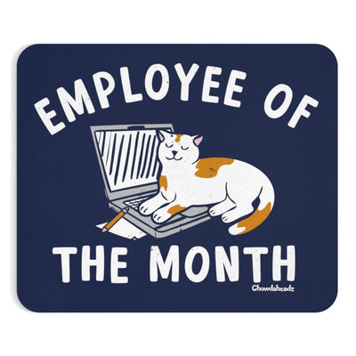 Employee Of The Month Cat Mousepad - Chowdaheadz